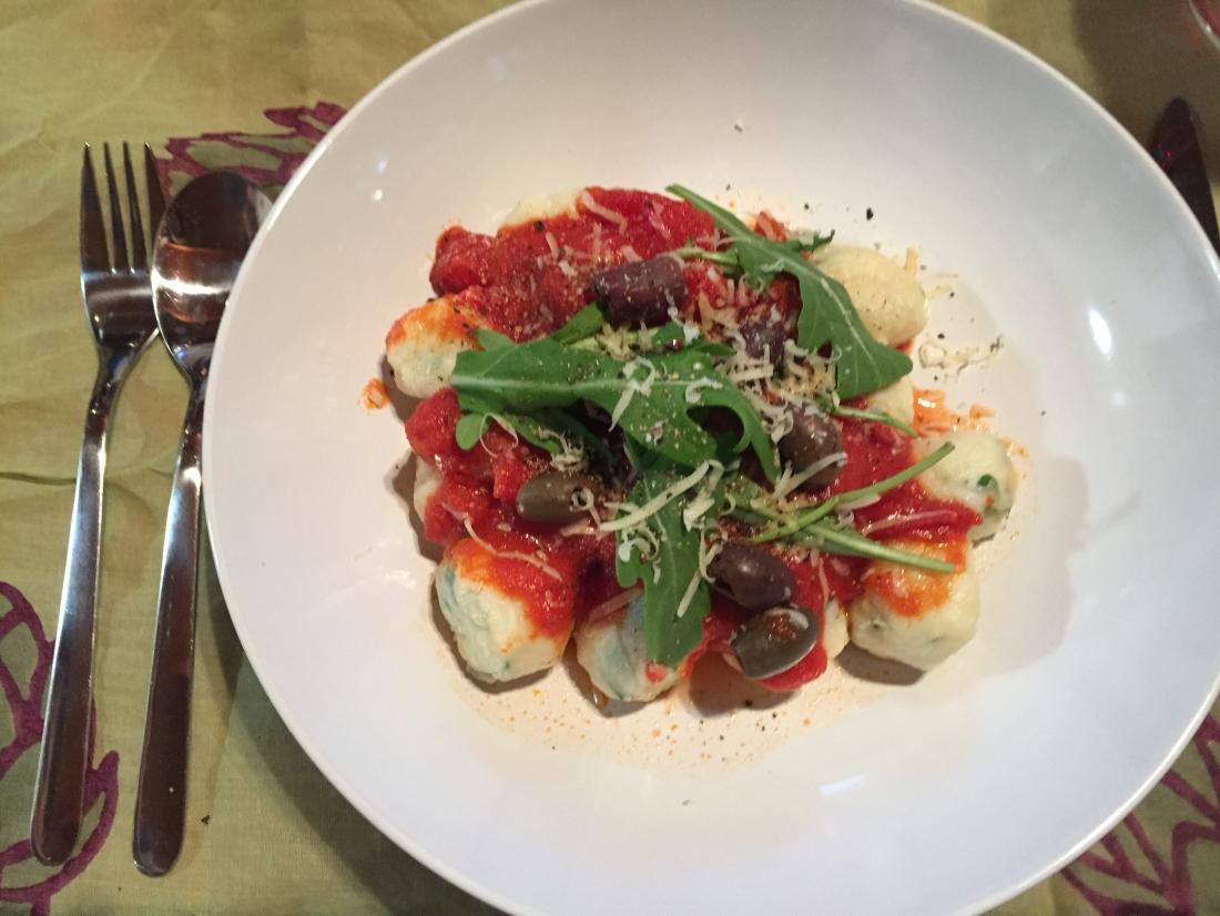 Home-made fresh gnocchi